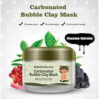 Очищающая пузырьковая маска для лица Bioaqua Skin Care Carbonated Bubble Clay Mask 100 g