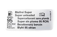 Справочная Табличка 'Неэтилированный бензин' (1K0010644P)