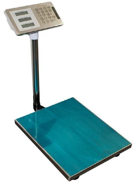 Электронные торговые весы Domotec до 600 кг 45х60, товарные платформа, базарные до 600кг со стойкой