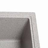 Мойка кухонная Solid Практик, серый (ДхШхГ-780х510х200(147)), фото 4