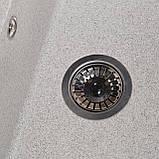 Мойка кухонная Solid Практик, серый (ДхШхГ-780х510х200(147)), фото 3