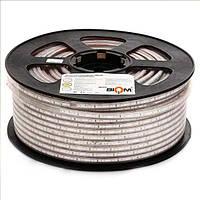 Светодиодная лента 220В 7 вт/м WW 3014-120 теплый белый IP68 герметичная, 1м