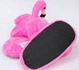 Домашние тапки фламинго розовые (р.38-41) krd0135, фото 2