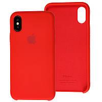 Чехол Silicone Case для iPhone X, Xs красный (айфон икс, икс ес)