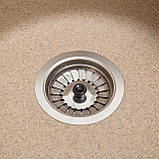 Мойка кухонная Solid Раунд, песок (ДхГ - 510х180), фото 2