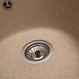 Мойка кухонная Solid Раунд, песок (ДхГ - 510х180), фото 3