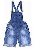 Женские шорты джинсовый комбинезон мом синие. Размер 25, 26, 27
