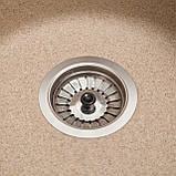 Мийка кухонна Елегант, колір - пісок (ДхШхГ-770х500х200), фото 2