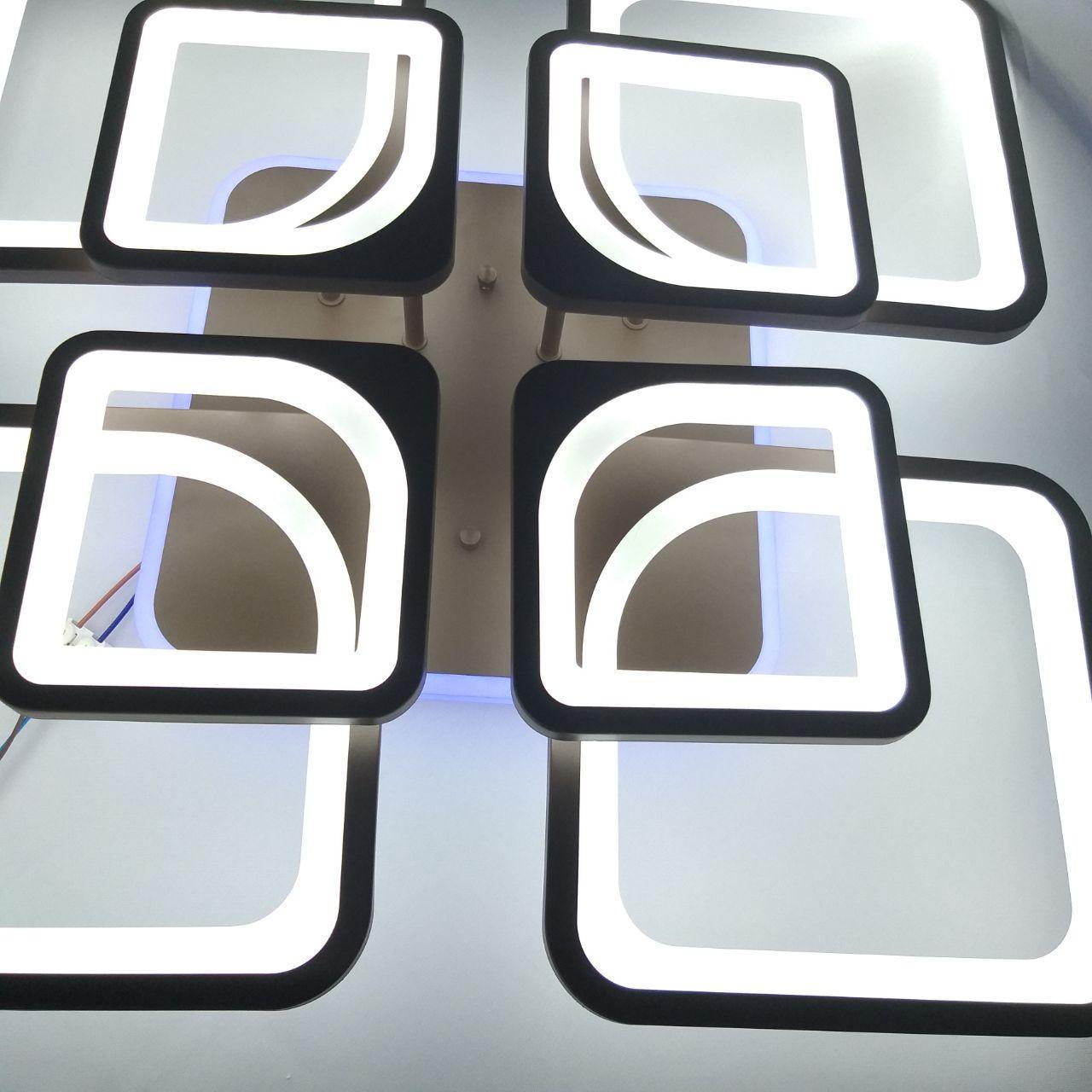 Люстра потолочная 20-MX10005/4+4 224W+12W COF(RGB)