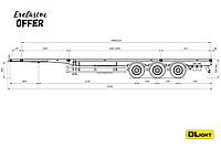 Полуприцеп контейнеровоз для 20 и 40 футовых контейнеров