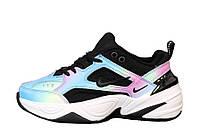 Женские кроссовки Nike M2K Tekno (бело-голубые с розовым) 12025