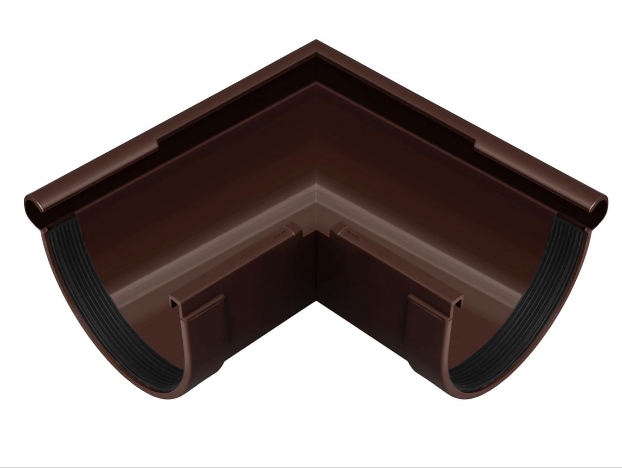 Угол желоба наружный 90° коричневый 90/75 Rainway