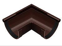 Угол желоба наружный 90° коричневый 90/75 Rainway, фото 1