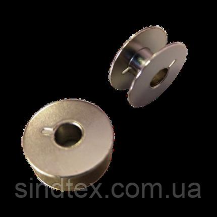 Шпульки для побутових швейних машин 9мм/21мм метал/хром YOKE (657-Л-0125), фото 2