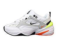 Женские кроссовки Nike M2K Tekno (бело-серые) 12120