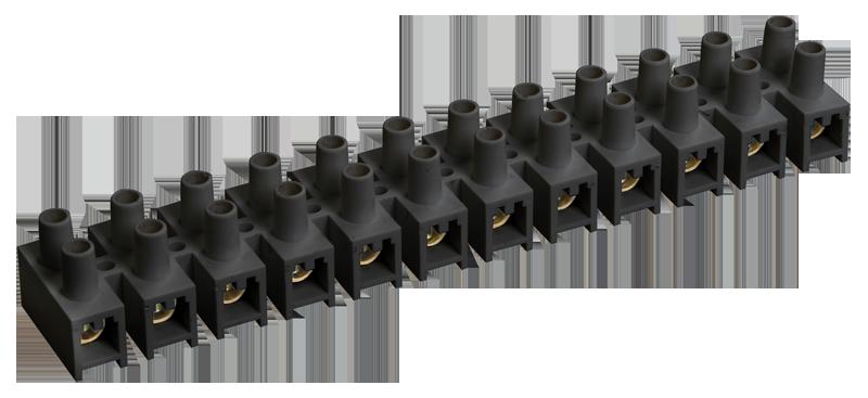 Клемна гвинтова колодка PP 16mm2, 30A чорна