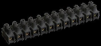 Клемна гвинтова колодка PP 16mm2, 30A чорна, фото 2