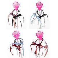 Аксессуары для волос TS-058 (1200шт) резиночка, 2шт, микс цветов, на листе,в кульке, 6-9-1см