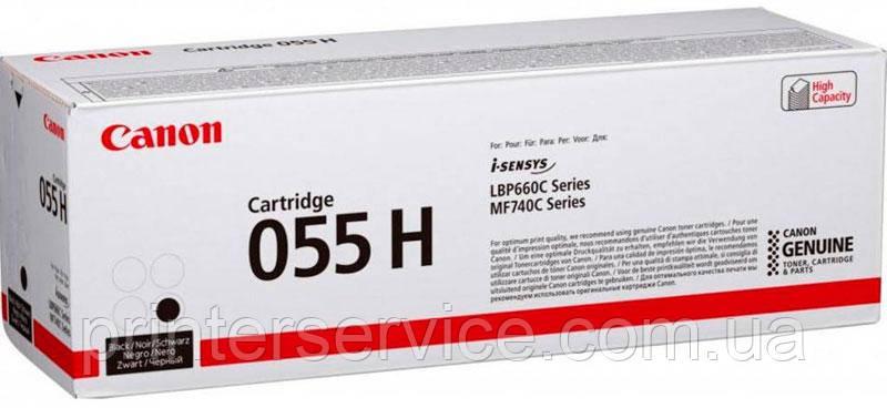 Картридж Canon 055H black для LBP663Cdw/ LBP664Cx/ MF742Cdw/ MF744Cdw/ MF746Cx (3020C002)