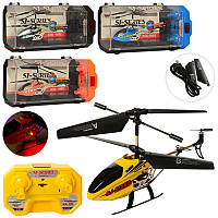 Вертолет SJ200 (12шт) р/у,аккум,20см,гироск,св,3,5канала,USBзарн,зап.лоп,4цв,кор(пласт),29,5-14-10см