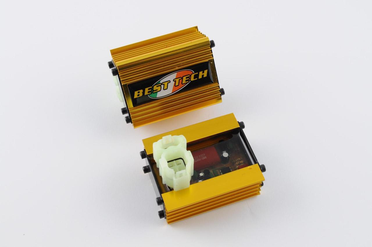 Коммутатор (тюнинг) на Китайский Скутер 4Т 4-х тактный (Gy6) 50 (золотистый) BEST TECH