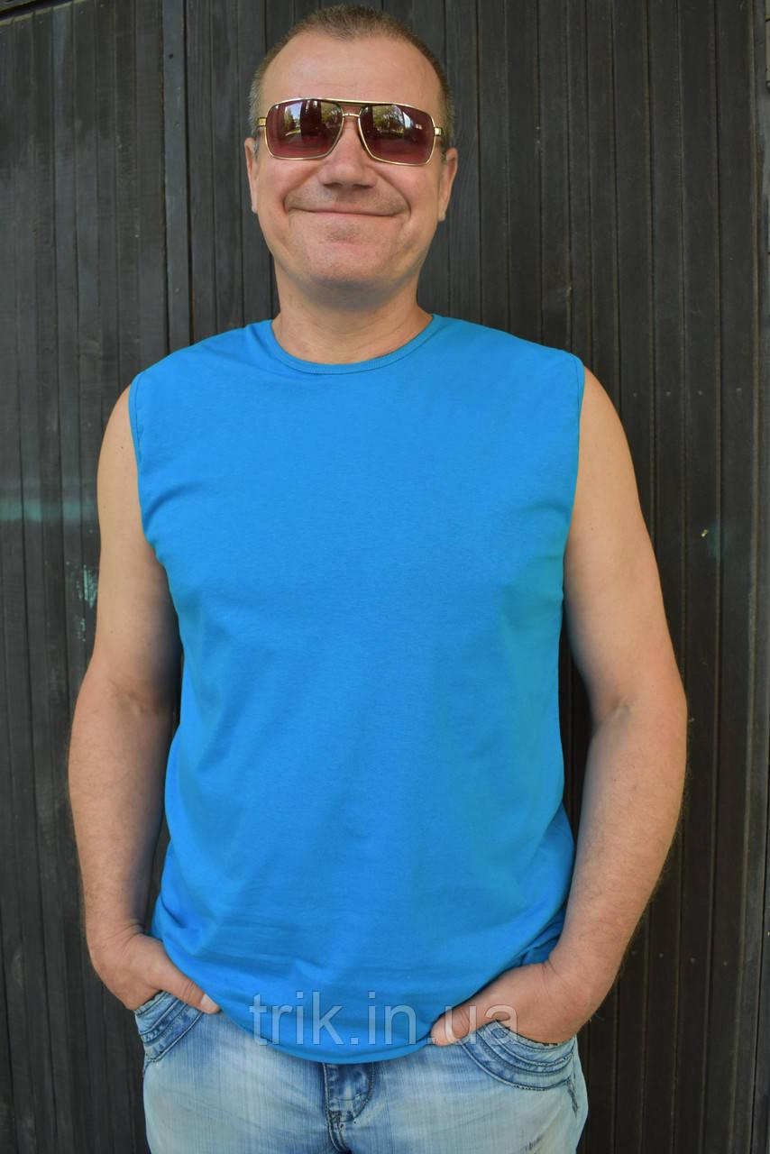Мужская безрукавка голубая