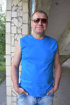 Мужская безрукавка голубая, фото 2