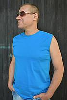 Мужская безрукавка голубая, фото 3