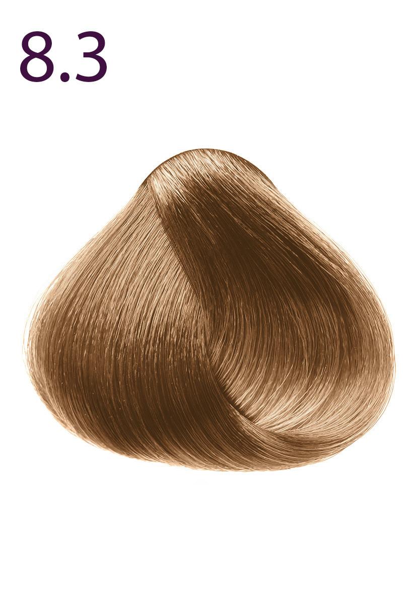 Стойкая крем-краска для волос Максимум цвета серии Expert Color, тон 8.3 Светлый блондин золотистый