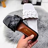Женские шлепанцы в стиле Dior, белые,черные, фото 5