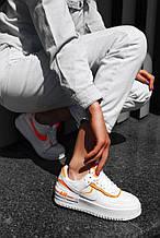 Кроссовки женские Nike Air Force 1 в стиле Найк Форсы БЕЛЫЕ (Реплика ААА+)