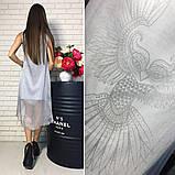 Летнее платье с шифоновой накидкой р.S,M,L Код 032Ч, фото 3