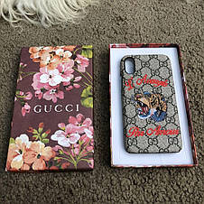 Gucci iPhone X Case with Tiger GG Supreme, фото 2