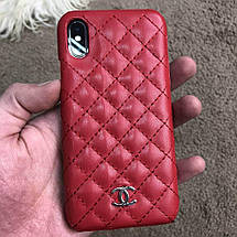 Chanel Iphone X Case Quilted Double C Red, фото 3