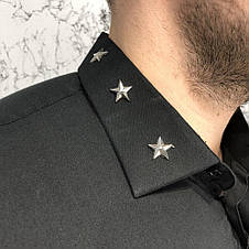 Givenchy Poplin Shirt With Metallic Stars Black, фото 2