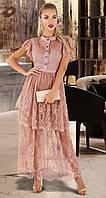 Роскошное женское пудровое платье 42,44,46,48рр.