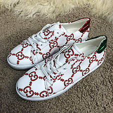 Gucci Ace Sneaker with GG Print White, фото 2