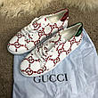 Gucci Ace Sneaker with GG Print White, фото 4