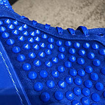 Christian Louboutin Louis Spikes Men's Flat Blue Suede, фото 2