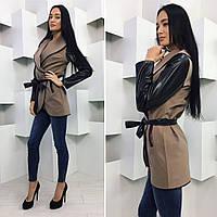Пальто женский кашемир весна-осень по распродаже, разные цвета, р.42,44,46 007Ч