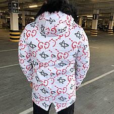 Gucci Jacquard White/Red Parka Jacket, фото 3