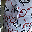 Gucci Jacquard White/Red Parka Jacket, фото 2