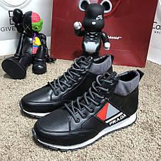 Prada Mechano Mid Sneakers Black, фото 2