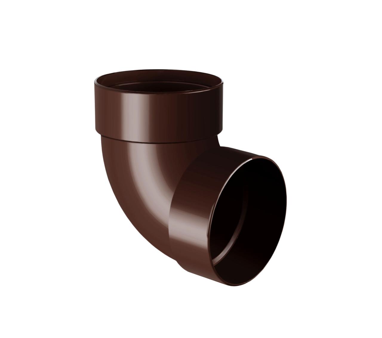 Отвод двухмуфтовый коричневый 87° 90/75 Rainway