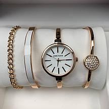 Подарочный Набор Anne Klein Bracelet/Watch/Bracelet with Diamond Gold, фото 2