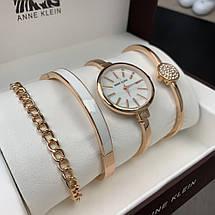 Подарочный Набор Anne Klein Bracelet/Watch/Bracelet with Diamond Gold, фото 3