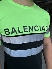 Футболка Balenciaga Logo Reflective Neon Green, фото 2