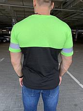 Футболка Balenciaga Logo Reflective Neon Green, фото 3