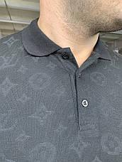 Поло Louis Vuitton Classic Monogram Black, фото 3