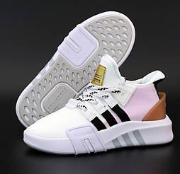 Женские кроссовки Adidas EQT Bask ADV W белые с пудрой летние в сетку. Живое фото. 36-40р. Живое фото. Реплика